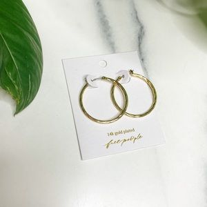 Free People 24K Gold plated Hoop Earrings